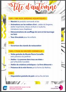 programme fete de l'automne 2019